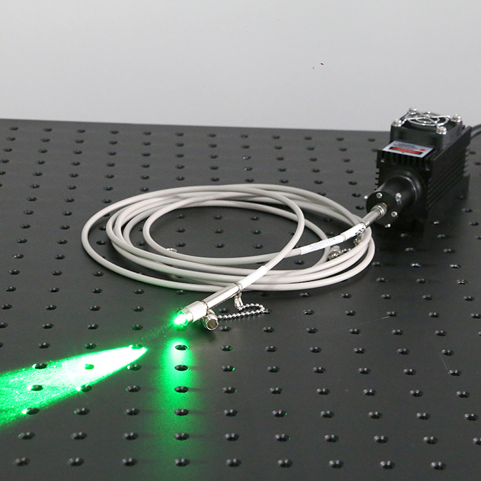532nm 50mW Fiber Coupled Laser Green Laser Beam Fiber Light